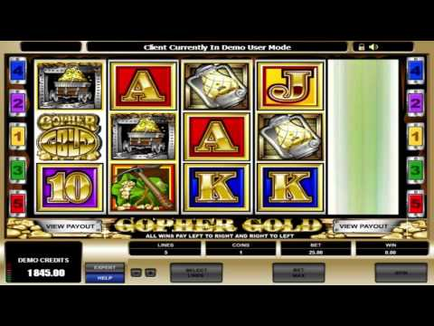 Free Gopher Gold slot machine by Microgaming gameplay ★ SlotsUp