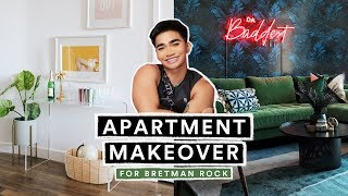 EXTREME APARTMENT MAKEOVER for Bretman Rock (Living Room + Kitchen )
