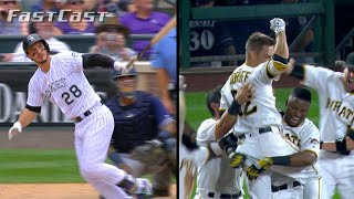 Nolan Arenado launches three homers in a five-hit game, plus the Pirates stay hot with a walk-off win to gain ground in the NL...