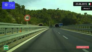 Menton France  city images : Driving from Genova (Italy) to Menton (France) 25.06.2015 Timelapse x4