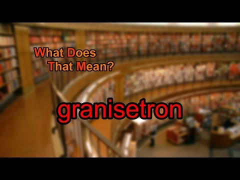 What does granisetron mean?