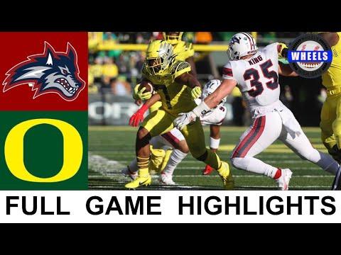 #4 Oregon vs Stony Brook Highlights | College Football Week 3 | 2021 College Football Highlights