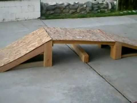 PART OF MY HOME MADE SKATEPARK!!!!!!! (PART 1)