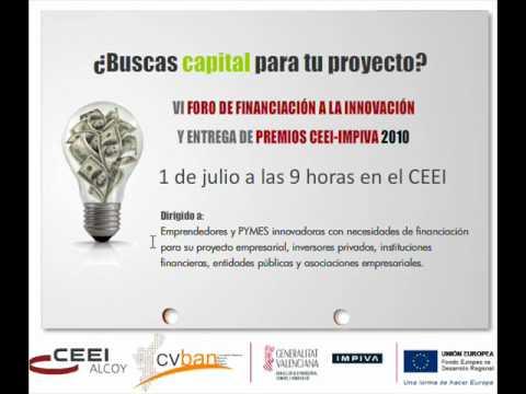 Presentación del VI Foro Financiación CEEI de Alcoi