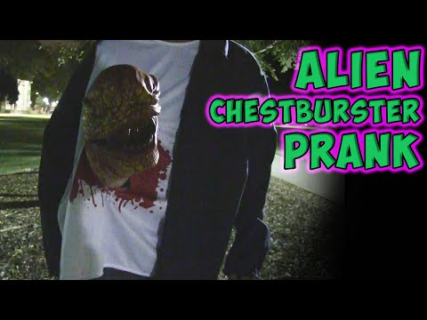 Alien Chestburster Prank