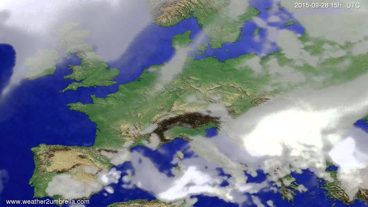 Cloud forecast Europe 2015-09-25