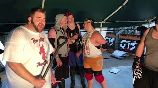 """GTS wrestling supercard event features a hell in a hurricane fatal five way elimination match for the youtube wrestling figures heavyweight championship in this professional wrestling ppv entertainment video!Save 10% on your wrestling figures with promo Code """"GRIM"""" here: http://www.ringsidecollectibles.com/Merchant2/merchant.mv?&DHPlease rate comment and subscribe to this channel for the most fun wwe style wrestling channel on youtube! This is not a real fight it is professional wrestling style wwe entertainment. Dont miss daily episodes from the greatest toy collector of all time, GRIM!OUR VLOG CHANNEL: http://www.youtube.com/user/kidlockdmhOUR WWE FIGURE CHANNEL: https://www.youtube.com/watch?v=CTUDUinux1QOFFICIAL WEBSITE: http://grimstoyshow.com/GET GRIMS TOY SHOW TSHIRTS HERE!! http://www.prowrestlingtees.com/related/grims-toy-show.htmlFOLLOW US ON TWITTER https://twitter.com/GrimsToyShow Grims Toy Show does NOT have a FACEBOOK GRIM'S fan run INSTAGRAM account @GTSAMABASSADOR"""