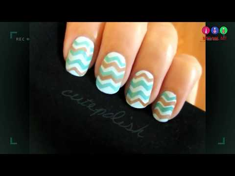 Easy Chevron Nails no stripers needed! - New Nail Art, Tutorials, Compilation