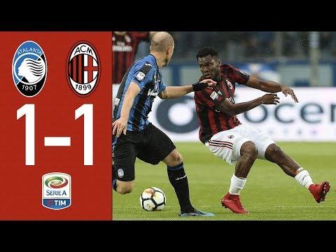 Highlights Atalanta 1-1 AC Milan - Serie 2017/2018
