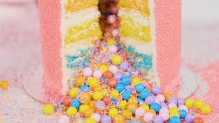 Flour Shop's Sprinkle Explosion Cakes Are Gorgeous and SO SATISFYING (ASMR!) by Cosmopolitan