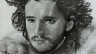 some of my fanart drawings/sketches of game of thrones characters Daenerys Targaryen (Emilia Clarke) , Khal Drogo (Jason...