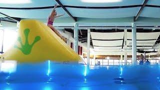 Kinderspielfest 2015 im Hallenbad Gelnhausen - Wasser-Parcours
