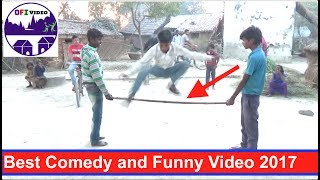 This is a 'Original Funny Video' Channel.  We are new in YouTube and we are trying to do some funny act for our viewer. This video is very  Funny Videos Compilation 2017. There are group of village funny boys doing funny act and funny prank with friends. This one of the full  entertainment in desi style. That make you lough.   Please enjoy our funny prank video.#1-Boys are asked to jump over the rope of stick. then blindfolded then they ask to do same things. There are fun come out when they try to jump with nothing. #2 There similar funny comedy act by boys doing that they need to hit the mug with open eyes then they need to do same thing with blindfolded. This is hilarious when they hist on floor with nothing.#3 in this comedy video boys need to do spin then run. You can see fun when they try to run.आशा है की आपको हमारा वीडियो पसद आएगा।  कृपया SUBSCRIBE का बटन दबाये। धन्यवाद् Please like and SUBSCRIBE or channel and share with your friends.