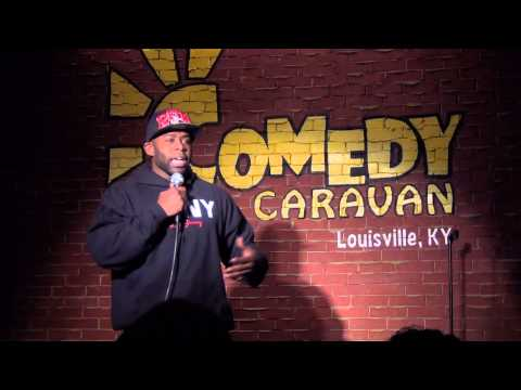 Comedian Larry Starks Jr at the Comedy Caravan (stand up)