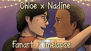 Pizza || Chloe Frazer x Nadine Ross Fanart Timelapse