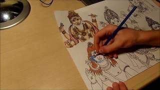 Drawing: Hindu Gods (Brahma, Vishnu, Ganesha, Parvati, Shiva)