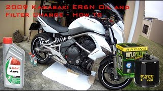 2. 2009 Kawasaki ER6N Oil and Filter Change