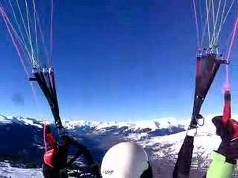 Paragliding on skis1