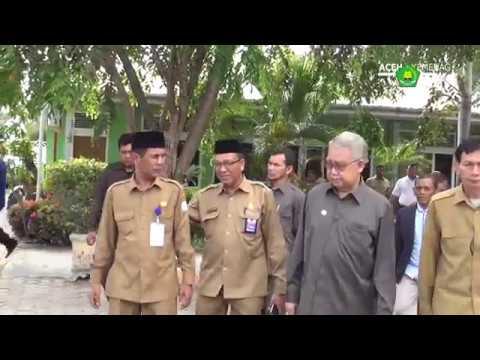 Gubernur Aceh dan Kakanwil Pantau UNBK MA 2017
