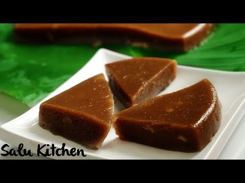 Traditional Sweet || Kerala Style Black  Rice Halwa || Karutha Aluva / Halwa || Salu Kitchen Ep#601