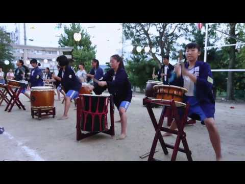 浜松市立南陽中学校 和太鼓倶楽部 鼓星 南区津島神社 夏祭り 2017