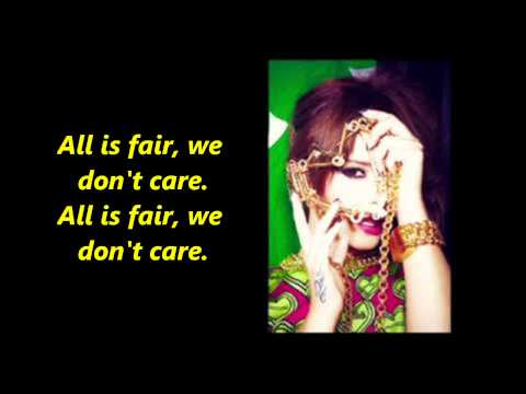 Cheryl Cole - All is fair lyrics