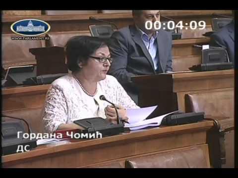 Гордана Чомић у Скупштини о амандманима на Предлог закона о уџбеницима