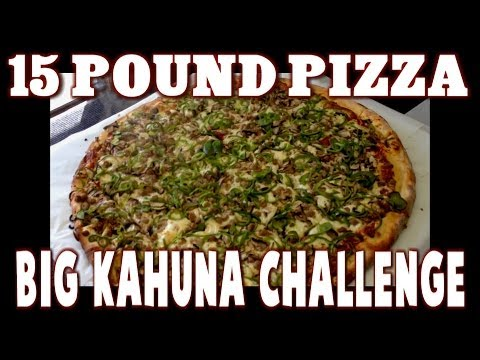 Food Challenge: 15 lb Big Kahuna Pizza Challenge w/ John Rivera at 8 Buck Pizza Truck