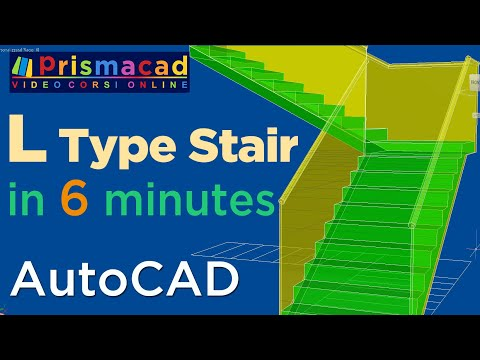 How to build a L-Type Stairs with AutoCAD