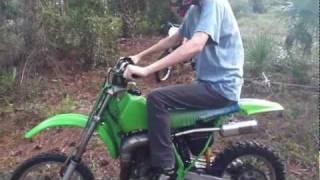 9. Riding the Kawasaki KX80 Motocross Bike