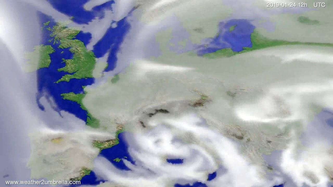 Cloud forecast Europe 2019-01-20