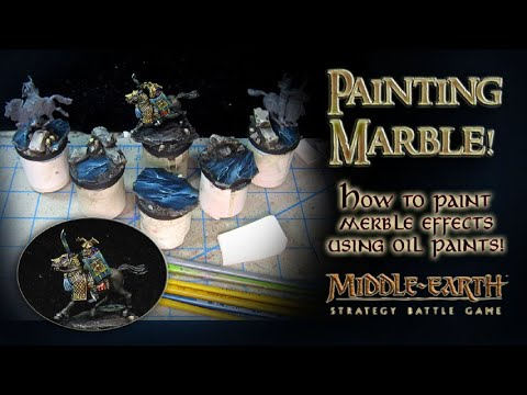 How to paint Marble effects with oils!