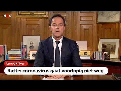 TERUGKIJKEN: Toespraak premier Rutte: 'veel Nederlanders zullen besmet raken met corona'