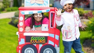 Video GOO GOO GAGA PRETEND PLAY WITH FOOD TRUCK! Family Learn Manners and Eat Healthy download in MP3, 3GP, MP4, WEBM, AVI, FLV January 2017