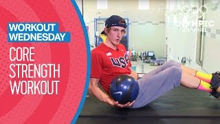 Train your abdominal muscles in this core strength exercises with Team USA's Kayak Slalom Olympian, Michal Smolen, in our latest Workout Wednesday episode.Get the best workout tips from top Olympians: http://bit.do/WorkoutEN Subscribe to the official Olympic channel here: http://bit.ly/1dn6AV5