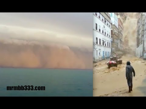 Looked like Niagara Falls as water gushed over the edge - #Mekunu (видео)