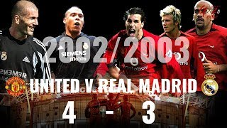 Download Video Real Madrid vs Manchester United 3-4 Champions League Quarter Finals 2002/03 MP3 3GP MP4