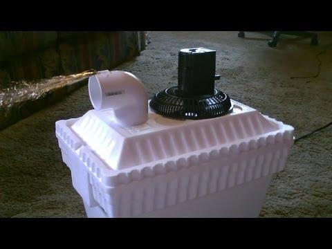 Homemade AC Air Cooler DIY – Can be Solar Powered! – Home/Auto Air cooler 40F Air! – 12VDC Fan