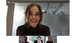 Watch A Game of Thrones Online Free:http://explorewesterosblog.com/watch-a-game-of-thrones-online-free/The guys from Goldderby gain a question and answer with Emilia Clarke. Emilia answers questions on Khaleesi, Season 4, Emmy nominations and others!Like us on Facebook: http://www.Facebook.com/FollowHouseStarkFollow us on Twitter: http://www.Twitter.com/ExploreWesteros