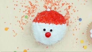Cupcakes de Papai Noel
