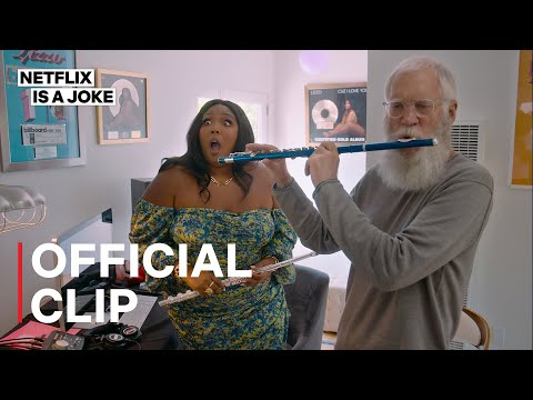 My Next Guest Needs No Introduction with David Letterman   Lizzo and Letterman play the flute