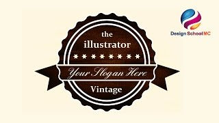 Vintage Badge Tutorial in Adobe illustrator - How to Create Text Logo Design  Text Effect see all my video tutorial : https://www.youtube.com/channel/UCRI0s...