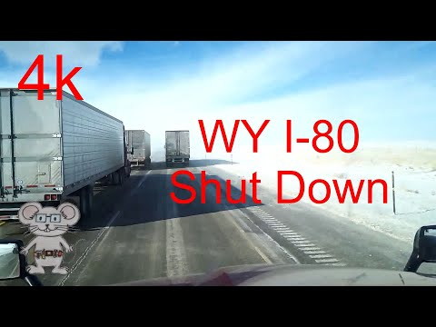 What do you see before they shut down I-80 in 4k