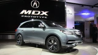 Watch The 2014 Acura MDX Prototype Debut At The Detroit Auto Show