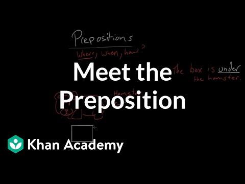 Meet The Preposition Video Khan Academy