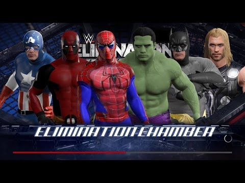 WWE 2K17 Wtf Spiderman vs Hulk vs Deadpool vs Batman vs Captain America vs Thor