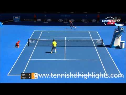 australian open 2015 - andreas seppi vs roger federer highlights