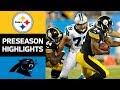 Steelers vs Panthers | NFL Preseason Week 4 Game Highlights