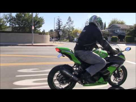 Download Video BEST Beginner Sport Bike Motorcycle 2013 Kawasaki Ninja 300 Street Ride Two Brothers Exhaust Sound