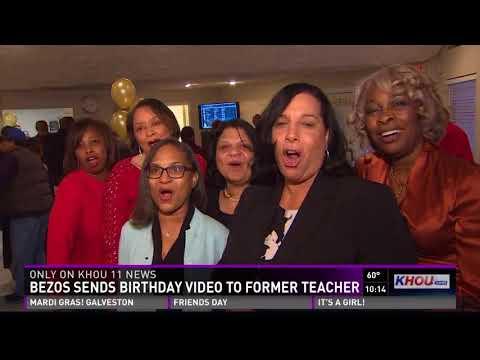 Happy birthday messages - Amazon CEO wishes his Houston elementary teacher a happy 80th birthday